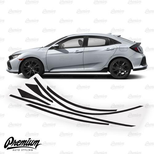 Window Trim Chrome Delete Vinyl Overlay Kit - Gloss Black | 2016-2020 Honda Civic Hatchback
