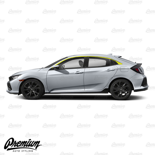 Window Trim Chrome Delete Vinyl Overlay Kit - Satin Black | 2016-2020 Honda Civic Hatchback