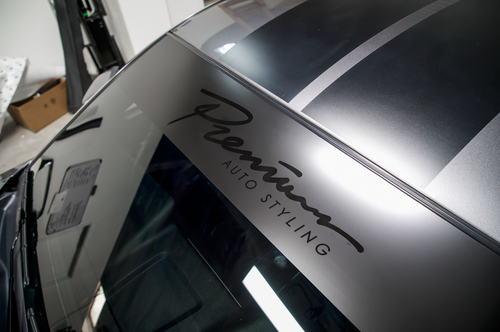Fast Script Stealth Windshield Banner (Satin Black  / Gloss Black)