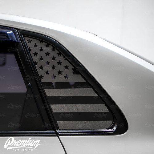 American Flag Quarter Window Decal Set (2008–2014 Subaru WRX/STI)