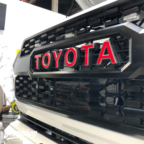 TRD Pro Grille Lettering Vinyl Overlays - Multiple Colors Available   Toyota Tacoma (2016-2019)