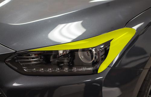 Headlight Amber Delete with Eyelid Overlay | 2018-2019 Hyundai Veloster