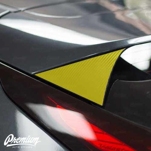Rear Spoiler Accent Overlays - Carbon Fiber |  Hyundai Veloster 2018-2019