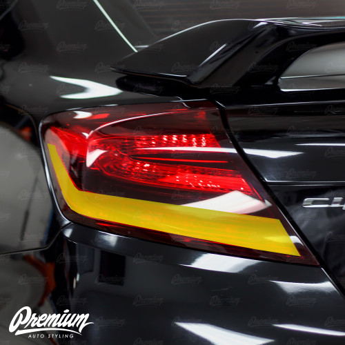 TailLight Reverse Light + Turn Signal Red Tint Overlays | 2014-2015 Honda Civic Coupe
