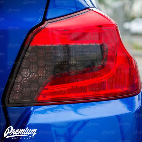 Honeycomb Smoked Tail Light Inset Overlay (2015-2020 WRX / STI)