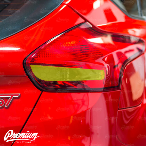 Honeycomb Tail Light Reverse Smoke Tint Overlay | 2015-2019 Ford Focus ST