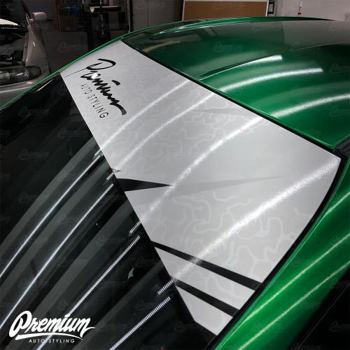 Premium Camo Signature Windshield Banner ( Gloss White / Cool Grey / Black )
