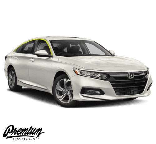 Window Trim Chrome Delete Vinyl Overlay Kit - Gloss Black | 2018-2019 Honda Accord