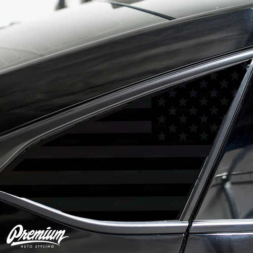 American Flag Quarter Window Decal Set | 2018–2019 Honda Accord