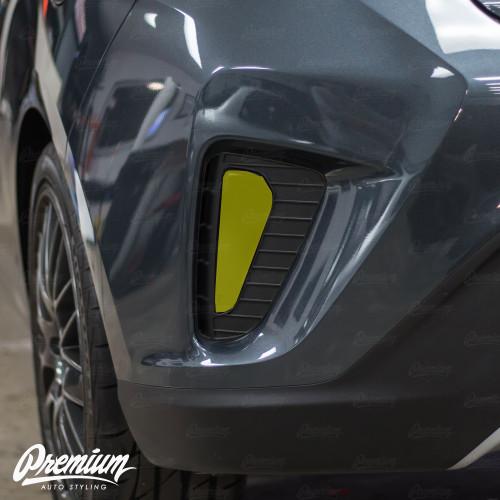 Rear Bumper Reflector Smoke Tint Overlay | 2019 Hyundai Veloster