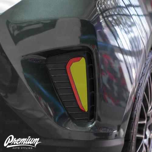 Rear Bumper Reflector Smoke Tint Overlay w/ Cutout | 2019 Hyundai Veloster