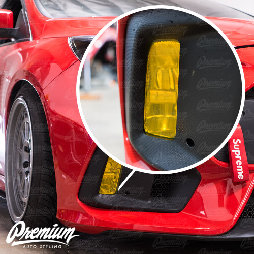 Fog Light Overlay - Smoke Tint / Rally Yellow Tint | 2015-2019 Ford Focus RS