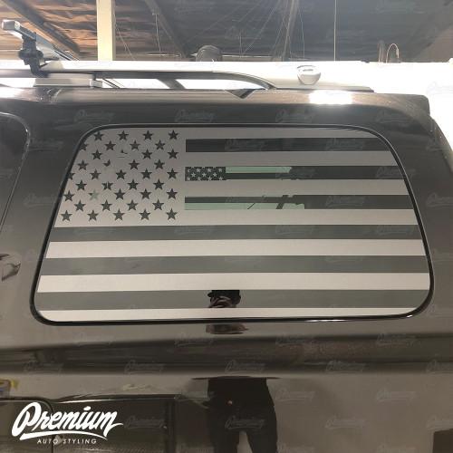 American Flag Rear Quarter Window Decal Set   2004-2016 Nissan Armada