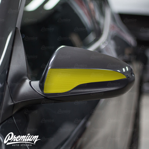 Mirror Accent Vinyl Overlays - Satin Black |  Hyundai Veloster 2018-2019