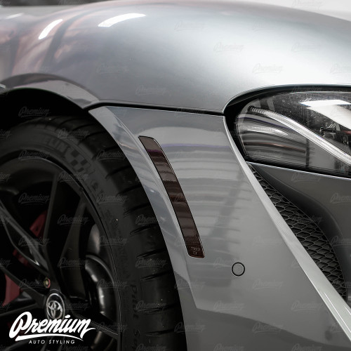 Front Side Marker Reflector Vinyl Overlays - Smoked Tint | 2020-2021 Toyota Supra
