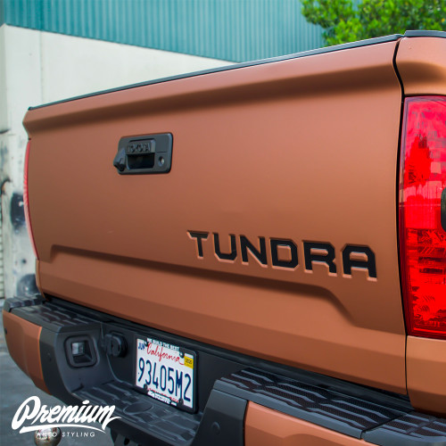 Bed Lettering Vinyl Overlays - Multiple Colors Available | Toyota Tundra (2014-2019)