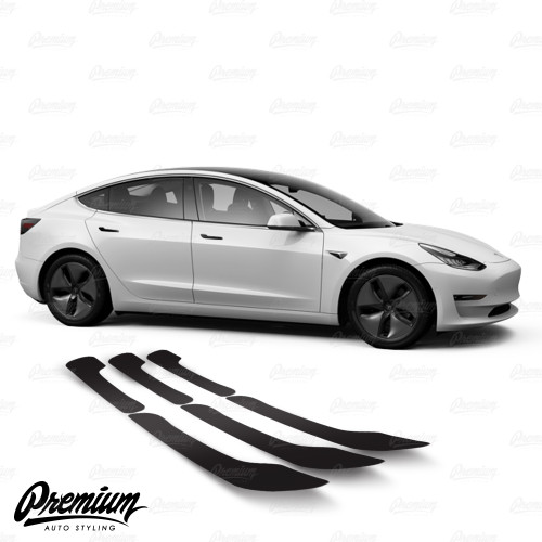 Door Handle Vinyl Overlay Set - Gloss Black | 2018+ Tesla Model 3