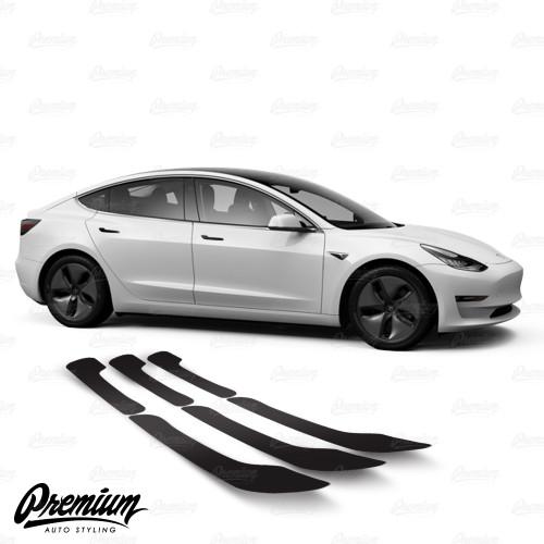 Door Handle Vinyl Overlay Set - Gloss Black | 2018+ Tesla Model 3
