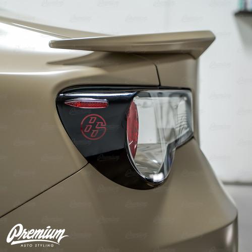 86 Logo Custom Cut-out - Tail Light Deck Vinyl Overlay - Gloss Black | 2012-2016 Toyota GT86