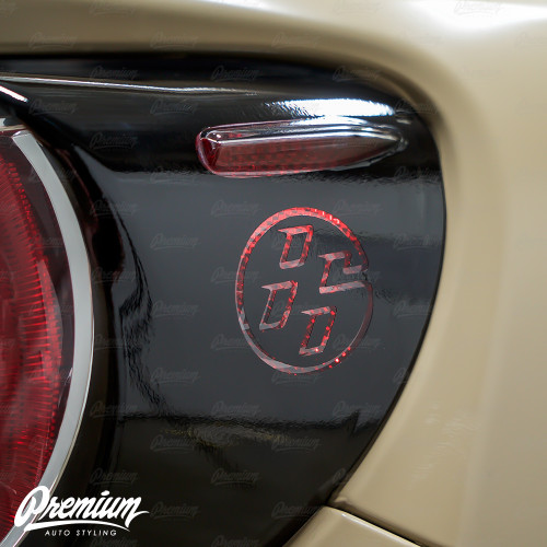 86 Logo Custom Cut-out - Tail Light Deck Vinyl Overlay - Gloss Black | 2012-2016 Toyota GT86