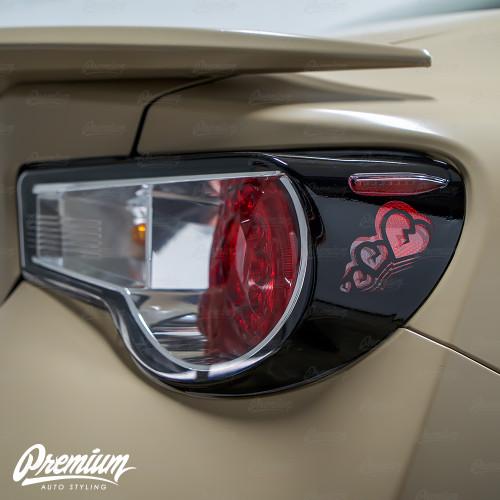 Sad Boi Custom Heart Cut-out - Tail Light Deck Vinyl Overlay - Gloss Black | 2012-2016 Toyota GT86