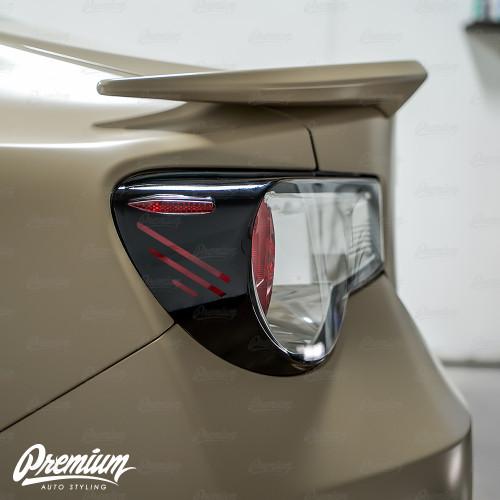 Cyber Syndicate Custom Cut-out - Tail Light Deck Vinyl Overlay - Gloss Black | 2012-2016 Toyota GT86