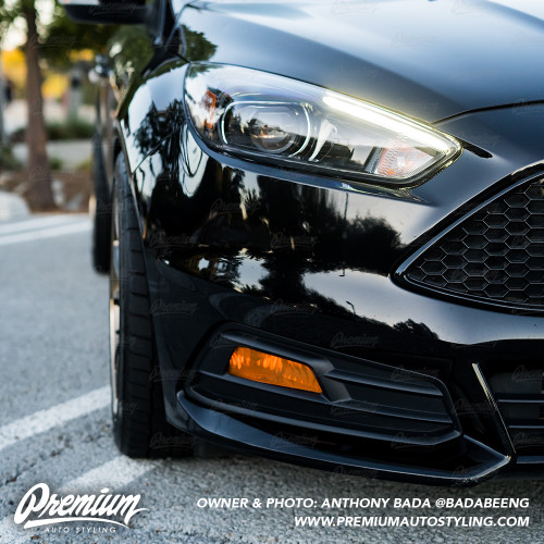 Fog Light Overlay - Amber Tint | 2015-2019 Ford Focus ST