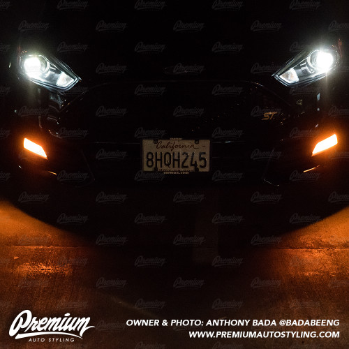 Fog Light Overlay - Amber Tint | 2015-2019 Ford Focus ST