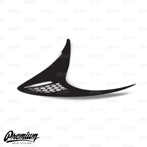 Full Tactical Custom Honeycomb Cut-out - Tail Light Deck Vinyl Overlay - Gloss Black   2012-2016 Scion FR-S