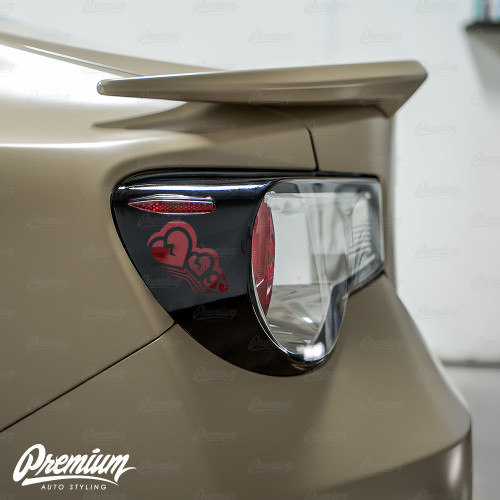 Sad Boi Custom Heart Cut-out - Tail Light Deck Vinyl Overlay - Gloss Black | 2012-2016 Subaru BRZ