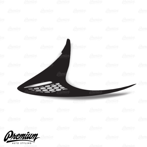 Full Tactical Custom Honeycomb Cut-out - Tail Light Deck Vinyl Overlay - Gloss Black | 2012-2016 Subaru BRZ