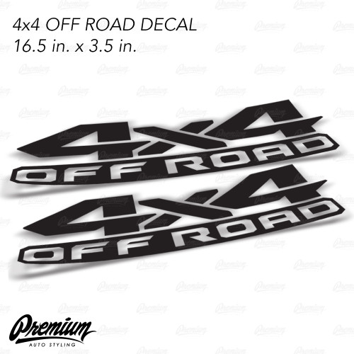 4 x4 OFFROAD DECAL SET of 2 - 16.5 x 3.5 inches ( Choose Your Color )