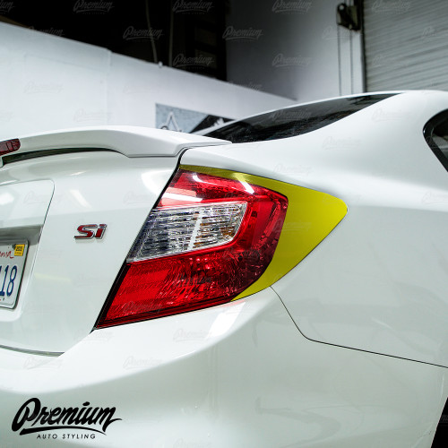 Tail Light Deck Vinyl Overlay - Gloss Black | 2012 Honda Civic Sedan