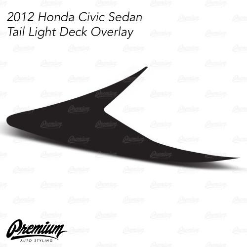 Tail Light Deck Overlay - Smoke Tint | 2012 Honda Civic Sedan