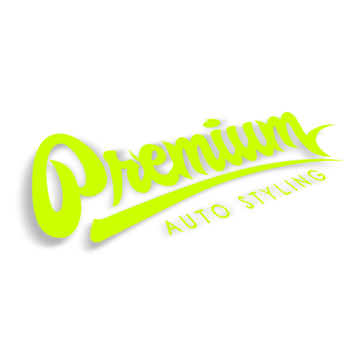 Premium Auto Styling Logo Decal | 14 inch - Acid Green