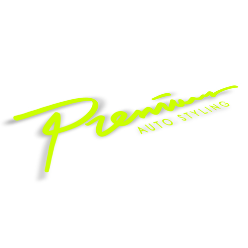 Premium Fast Script Logo Decal | 14 inch - Acid Green