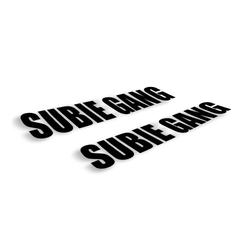 Subie Gang Bold Windshield Decal | 6 inch Set of 2 - White