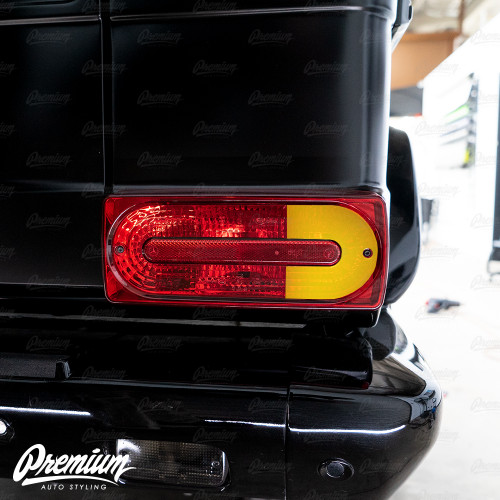 Tail Light Red Out Turn Signal Overlay - Red Tint | 2018 Mercedes G-Wagon G-Class AMG63
