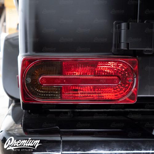Tail Light Turn Signal Overlay - Smoke Tint | 2018 Mercedes G-Wagon G-Class AMG63
