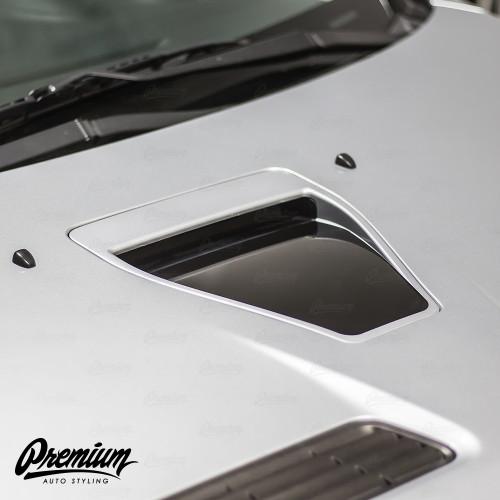 Hood Scoop Inlay - Gloss Black | 2008-2015 Mitsubishi Evo X