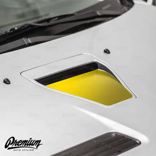 Hood Scoop Inlay - Satin Black | 2008-2015 Mitsubishi Evo X