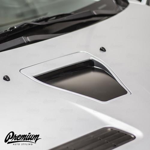 Hood Scoop Inlay - Satin Black | 2008-2015 Mitsubishi Evo X