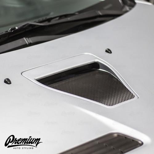 Hood Scoop Inlay - Carbon Fiber   2008-2015 Mitsubishi Evo X