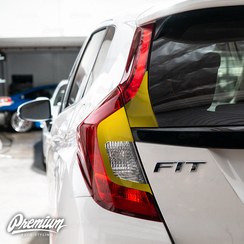 Tail Light Custom Black Out Accent - Gloss Black | 2015-2019 Honda Fit Sport