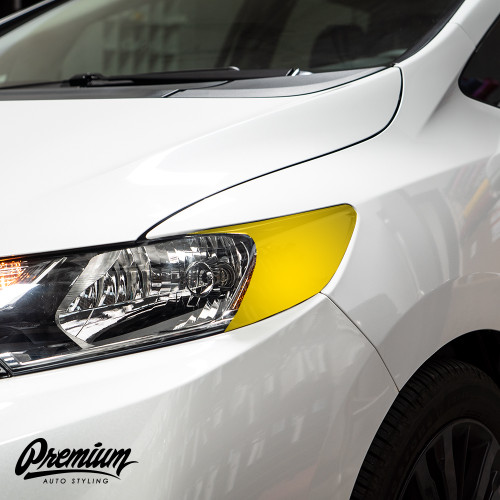 Headlight Amber Delete with Eyelid - Gloss Black Vinyl | 2015-2019 Honda Fit (Sport Only)