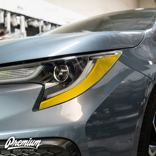 Headlight Amber Delete Overlay - Smoke Tint | 2020 Toyota Corolla Sedan