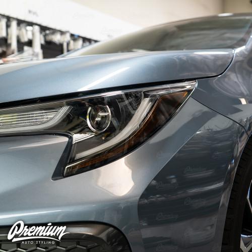 Headlight Amber Delete Overlay - Smoke Tint | 2020-2021 Toyota Corolla Sedan