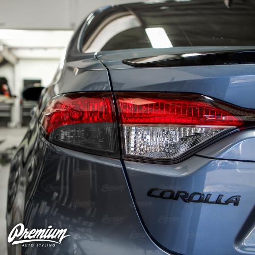 Tail Light Turn Signal Overlay - Smoke Tint | 2020-2021 Toyota Corolla Sedan