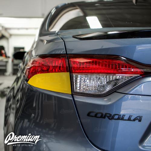 Tail Light Turn Signal Overlay - Red Tint | 2020 Toyota Corolla Sedan