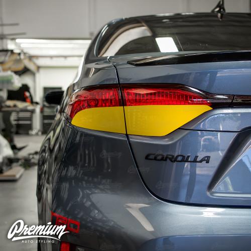 Tail Light Smoke Overlay - Smoke Tint | 2020 Toyota Corolla Sedan